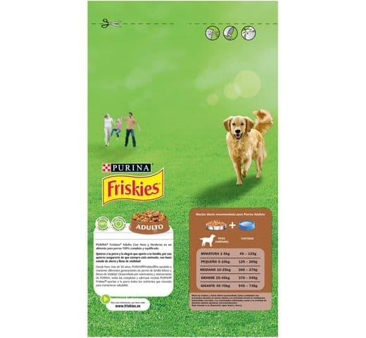 Pinso Friskies Purina gos adult au/verdura 1,5kg 2