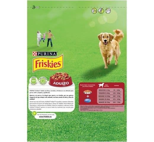 Pinso Friskies Purina gos adult carn/verdura 3kg 2