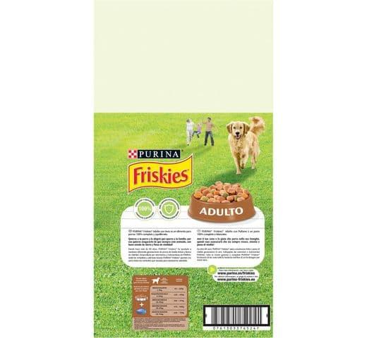 Pinso Friskies Purina gos adult au/verdura 10kg 2