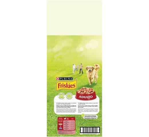 Pinso Friskies Purina gos adult carn/verdura 15kg 2