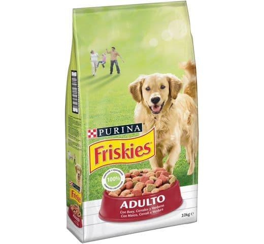 Pinso Friskies Purina gos adult carn/verdura 10kg 1
