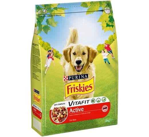 Pinso Friskies Purina gos adult active 3kg 1