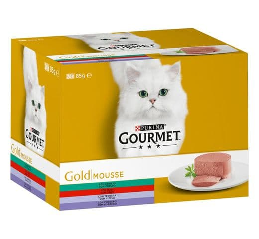 Aliment humit Gourmet Purina gat gold caixa 24 mousse 1
