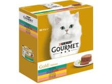 Aliment humit Gourmet Purina gat gold caixa 8 tarrine