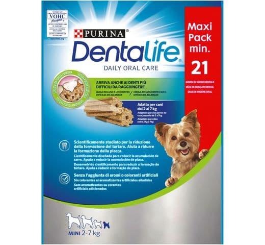 Snack dental Friskies Purina gos mini Dentalife pack 207gr (21un) 1