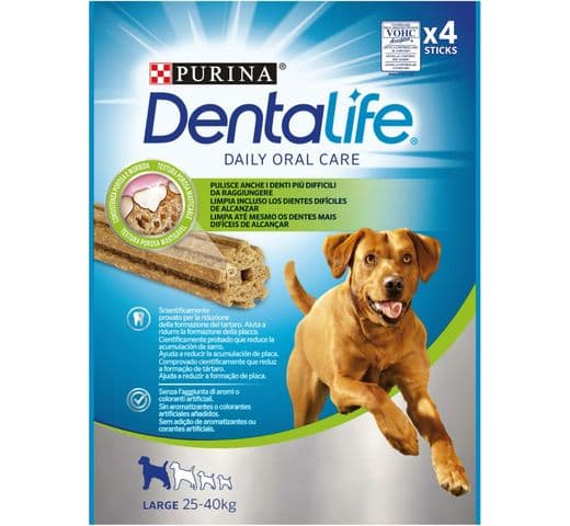 Snack dental Friskies Purina gos gran Dentalife 142gr  (4un) 1