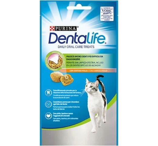 Snack dental Friskies Purina gat Dentalife pollastre 40gr 1