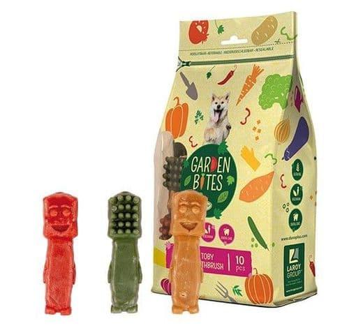 Snack dental Duvo green toby toothbrush L (10un) 10cm 500gr 1