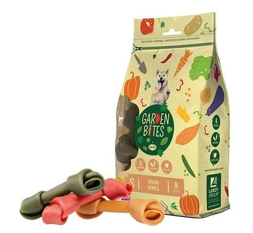 Snack dental Duvo green vegan bones S (8un) 11cm 340gr 1