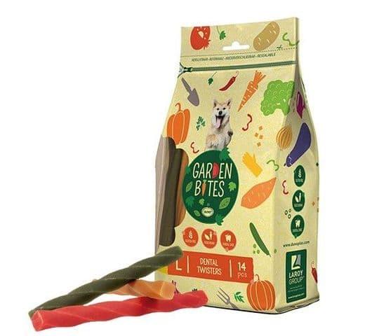 Snack dental Duvo green twisters L (14un) 16cm 420gr 1