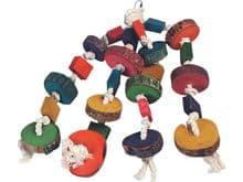 Joguina de corda Flamingo llor penjador amb adornaments 4 cordes