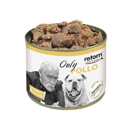Aliment humit Retorn gos llauna només pollastre 1