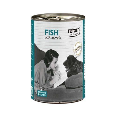 Aliment humit Retorn gos llauna peix i pastanaga 2