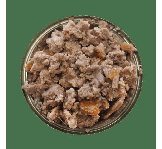 Aliment humit Retorn gos llauna peix i pastanaga 3