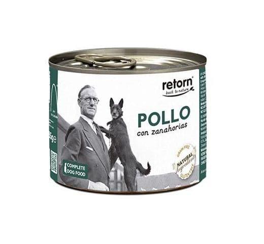Aliment humit Retorn gos llauna pollastre i pastanaga 2