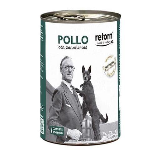 Aliment humit Retorn gos llauna pollastre i pastanaga 3