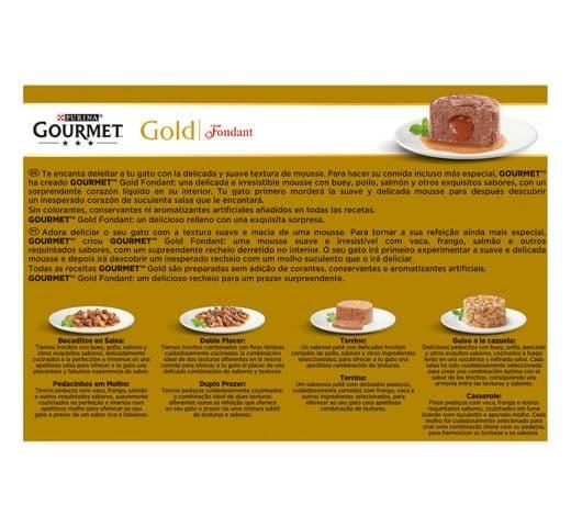 Aliment humit Gourmet Purina gat gold caixa 12 fondant 2